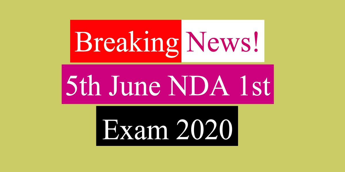 Breaking News! NDA 1st 2020